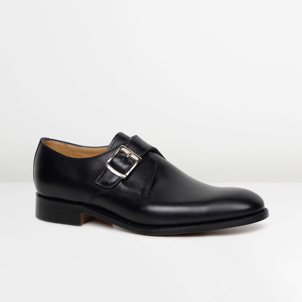 Black Northcote Monk Strap Shoes