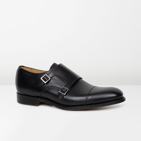 Black Tunstall Monk Strap Shoes