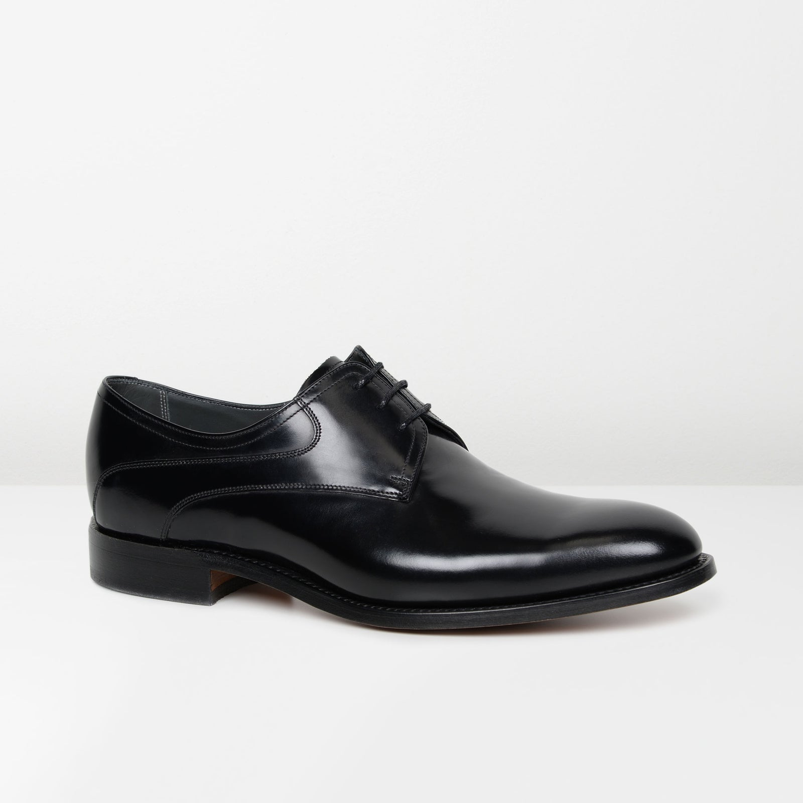 Black Wickham Derby Shoes
