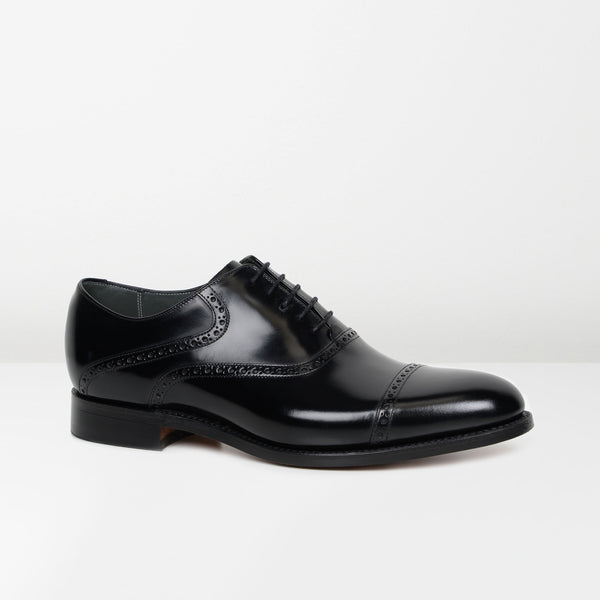 Black Wilton Oxford Shoes