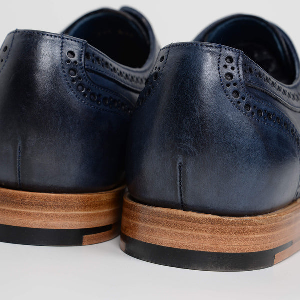 Navy Victor Derby Brogues