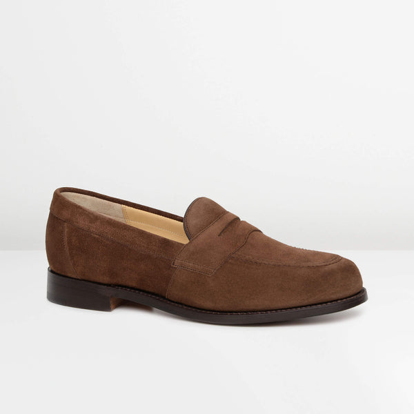Brown Suede Portsmouth Loafers