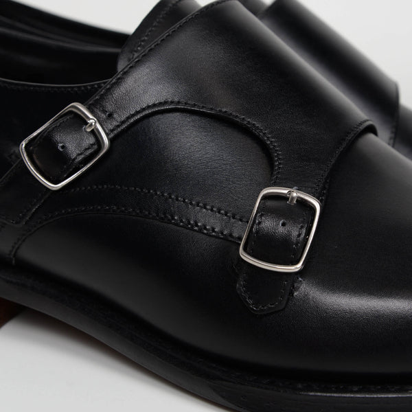 Black Wensum Double Monk Strap Shoes