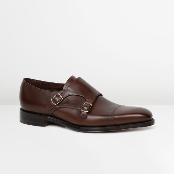 Dark Brown Wensum Double Monk Strap Shoes