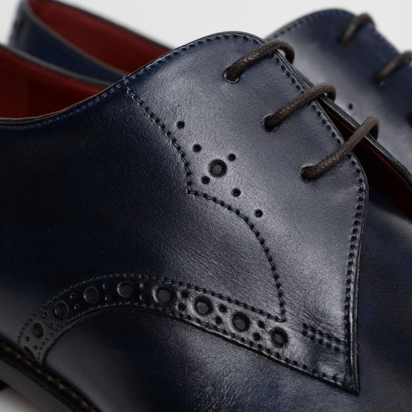 Blue Hannibal Derby Shoes