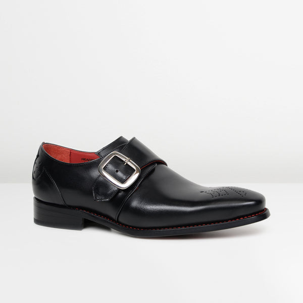 Black Hunger 'Headstone' Monk Strap Shoes