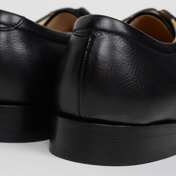 Softie Black Leather Staines Derby Shoes