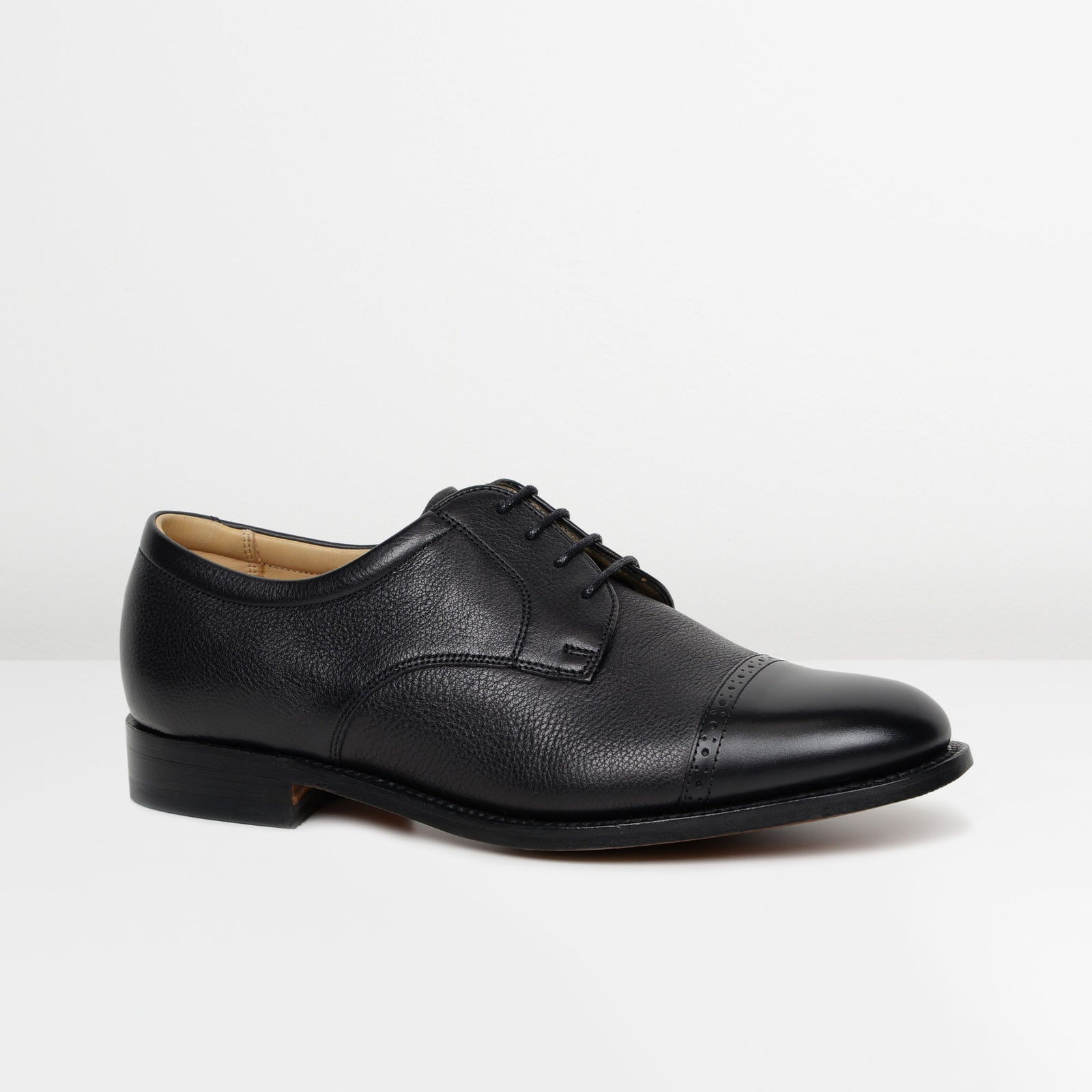 Softie Black Staines Derby Shoes