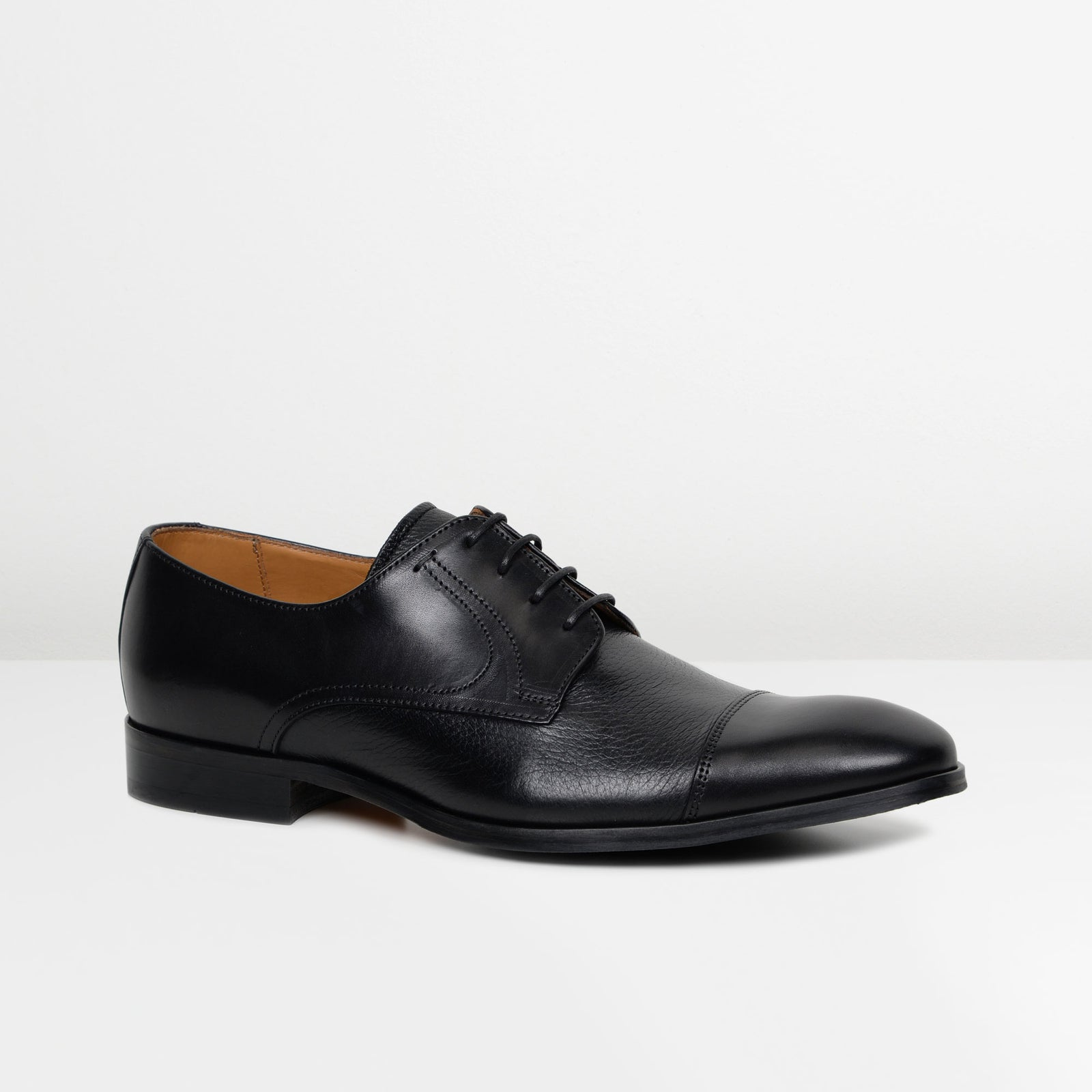 Black Southwold Derby Shoes