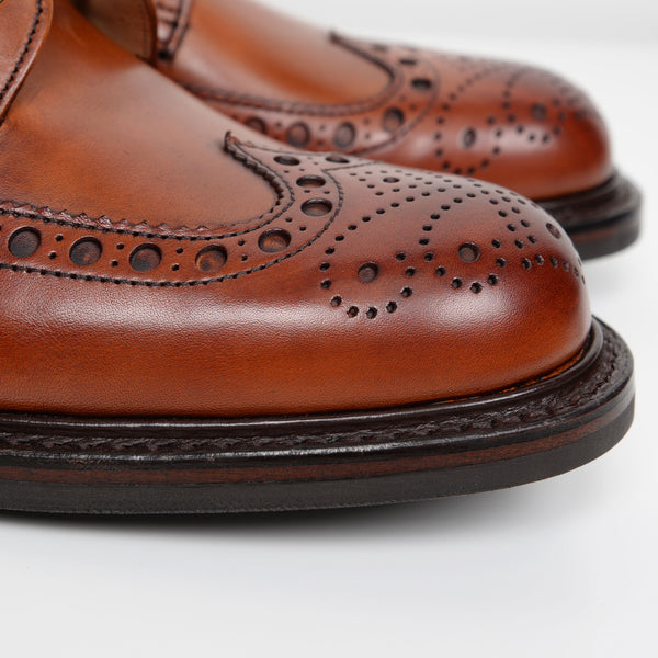 Dark Leaf Tweed R Derby Brogue Boots