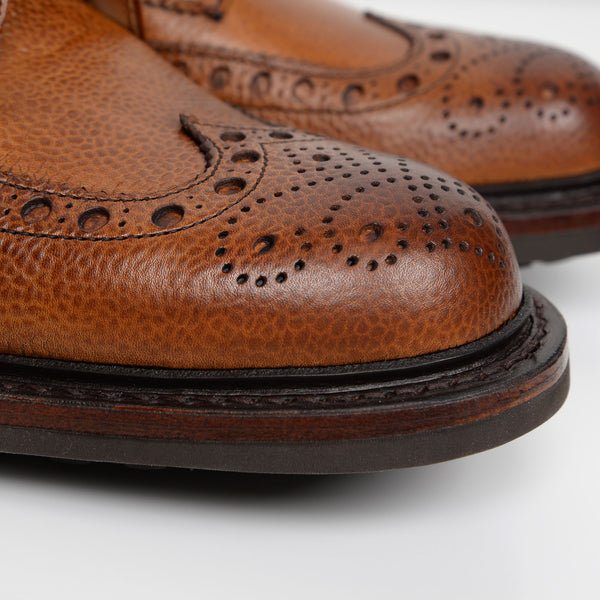 Almond Grain Tweed C Derby Brogue Boots