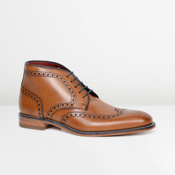 Tan Leather Errington Brogue Chukka Boots
