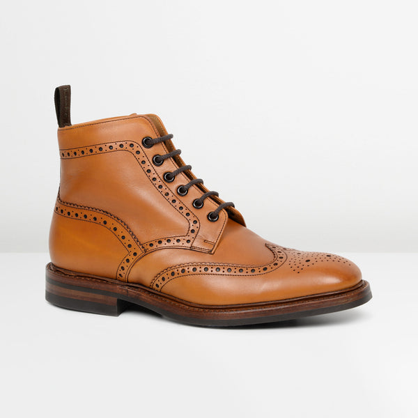 Tan Burford Dainite Derby Brogue Boots
