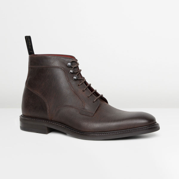 Dark Brown Crow Derby Boots