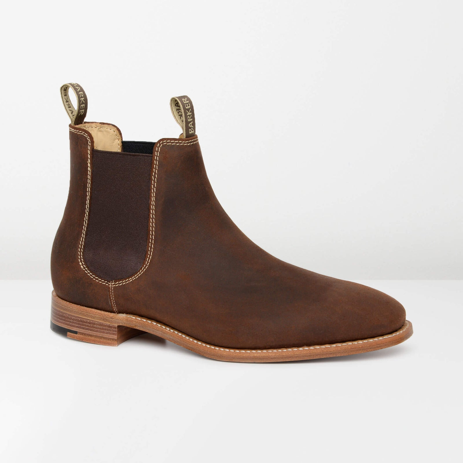 Brown Waxy Suede Mansfield Chelsea Boots
