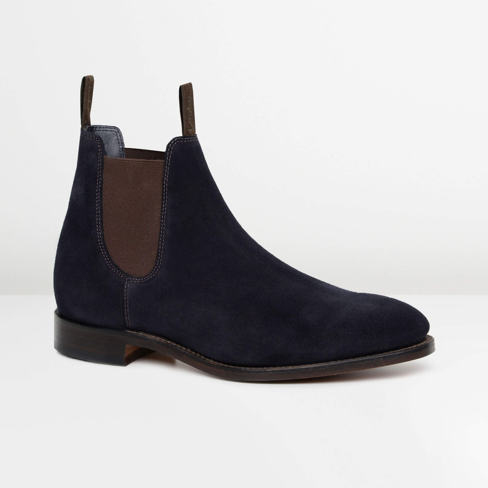 Navy Suede Apsley Chelsea Boots