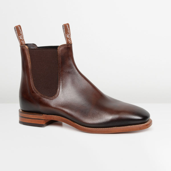Bordeaux Chinchilla Chelsea Boots