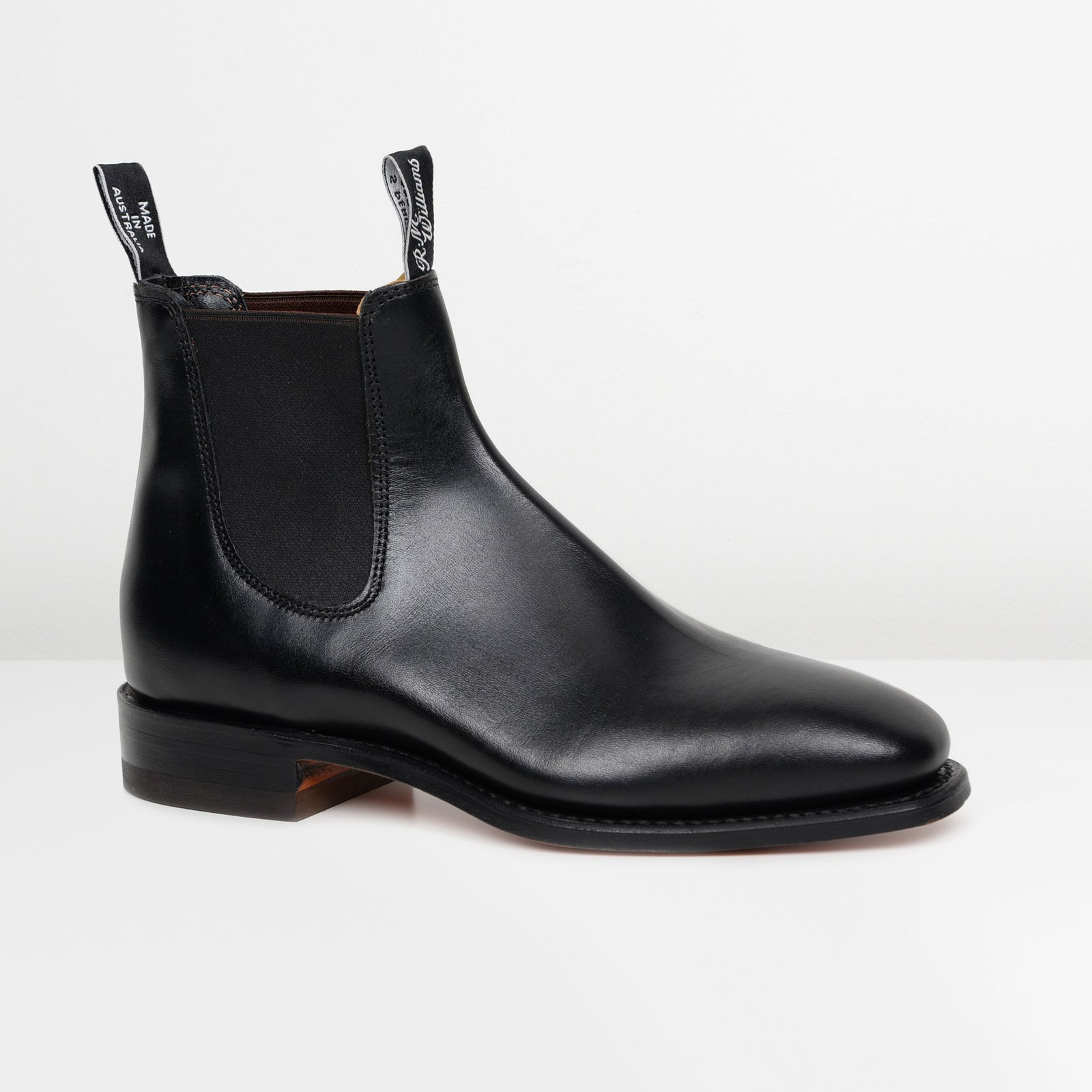 Black Classic Craftsman Chelsea Boots