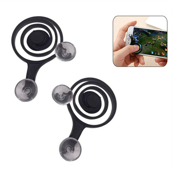 2 Pcs Mobile Game Joystick Phone Game Rocker Touch Screen Joypad Tablet Funny Game Controller For Phone or Pad (Black)