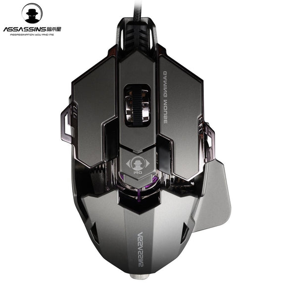 ASSASSINS G500 Mechanical USB Wired Gaming Mouse 10-Keys Marco Programming