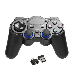 2.4GHz Wireless Game Controller Handle Gamepad Joystick With OTG Converter