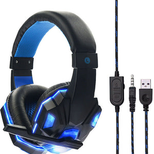 USB Wired LED Gaming Headset Headband Headphone 3.5mm with Mic for PS4/XBOX /ONE