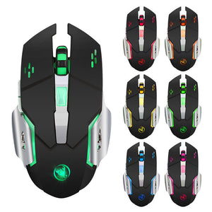 Rechargeable 2400DPI Wireless Gaming Mouse 2.4G Battery Gamer 6 Buttons Mice