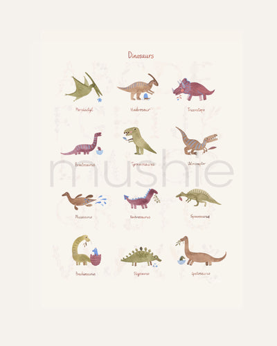 SMALL DINOSAURS POSTER - BØRN BABY