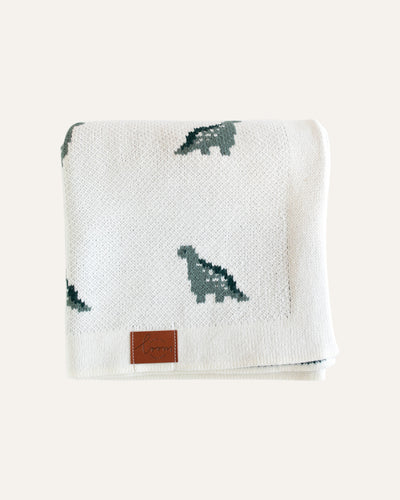 DINO KNITTED BLANKET - BØRN BABY