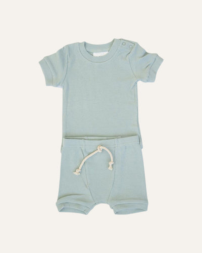 RIBBED 2-PIECE SHORT SET - BØRN BABY