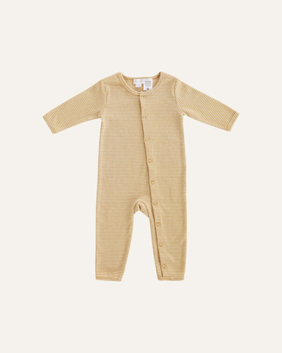 RIBBED COTTON COVERALL - BØRN BABY