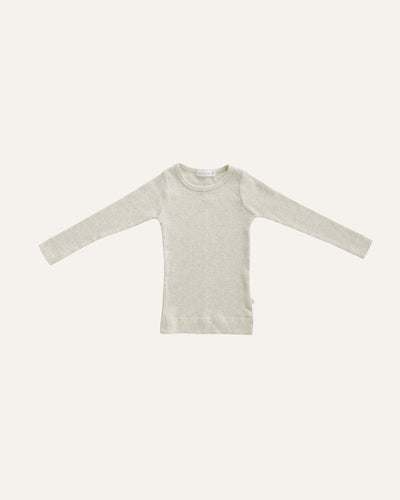 RIBBED LONG SLEEVE TOP - BØRN BABY