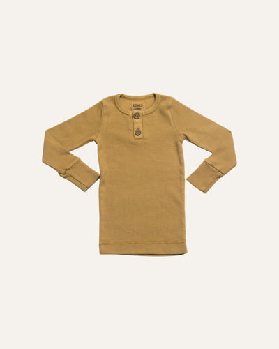 LONG SLEEVE RIBBED TOP - BØRN BABY