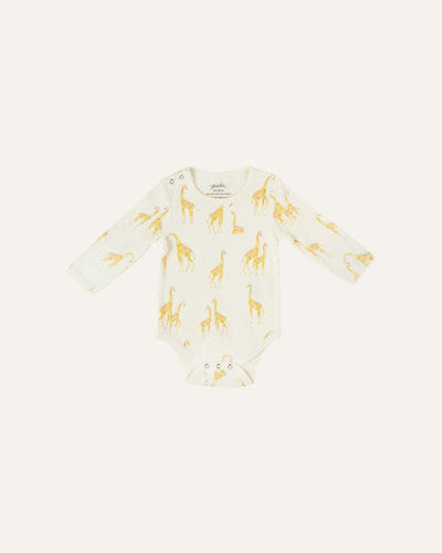 SHOULDER SNAP LONG SLEEVE ONESIE - BØRN BABY