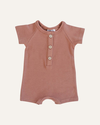 SUMMER COTTON BUTTON ROMPER - BØRN BABY