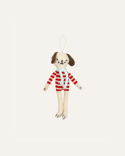STRIPY DOG TREE DECORATION - BØRN BABY