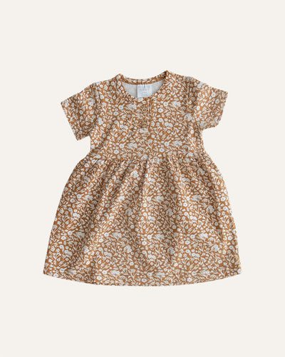 FLORAL COTTON DRESS - BØRN BABY