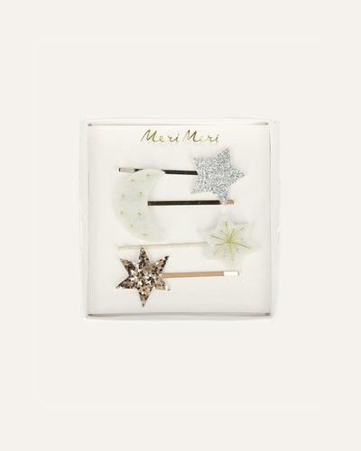 MOON + STAR HAIR SLIDES - BØRN BABY