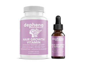 Dephena Hair Growth Vitamins and Hair Oil First Month Promotion