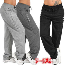 Load image into Gallery viewer, Casual High Waist Oversized Loose Leggings Sports Pants