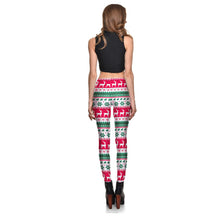 Load image into Gallery viewer, White Ugly Xmas Sweater Leggings
