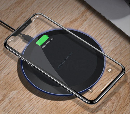 Black Wireless Phone Charging Pad