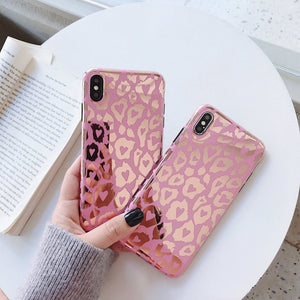 Pink Leopard Hearts Case