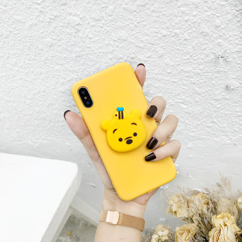 Cute Cartoon Case with FREE Grip