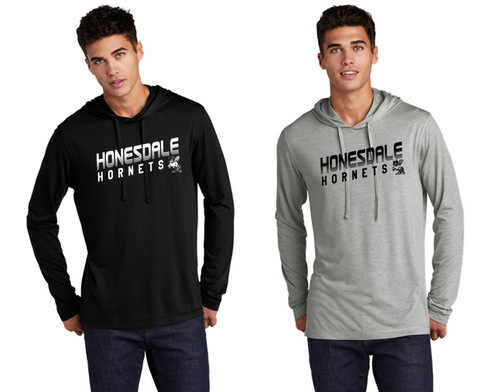 TriBlend Hooded Long Sleeve - Adult - HONESDALE FOOTBALL