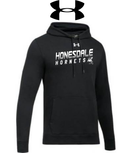 UA Hustle Fleece Hoody - Adult - HONESDALE FOOTBALL