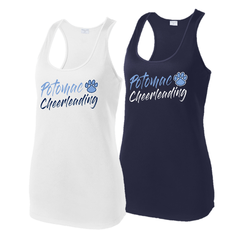 Ladies Racerback Tank - Potomac Cheer