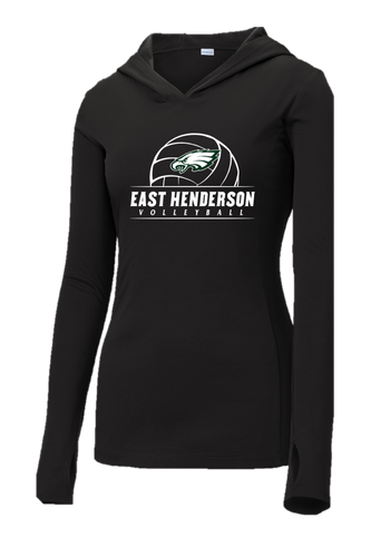 Ladies Hooded Pullover - East Henderson Volleyball