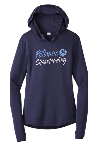 Ladies Hooded Pullover - Potomac Cheer
