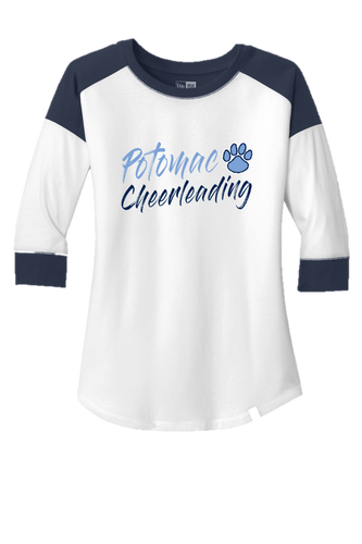 Ladies Heritage Blend 3/4-Sleeve Raglan Tee - Potomac Cheer